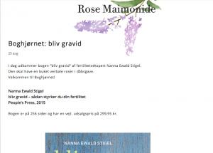 bliv gravid anmeldelse rose maimonide